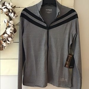 Bebe Sport Jacket zip front w/wicking L NWT